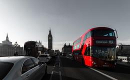 Bus del ponte di Londra Fotografia Stock
