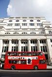 Bus del ponte di Londra Dobule Fotografia Stock Libera da Diritti