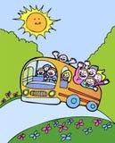 Bus del sole Immagine Stock