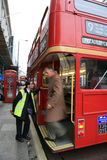 Bus del supervisore dell'itinerario di Londra Immagine Stock
