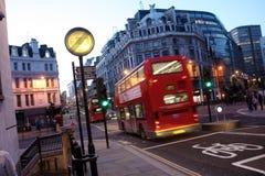 Bus dell'Inghilterra Fotografie Stock