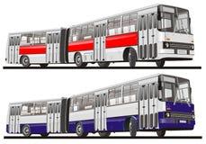 Bus della città articolato Immagine Stock
