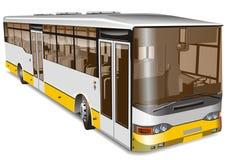 Bus della città dell'illustrazione di vettore Fotografie Stock Libere da Diritti