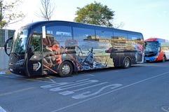 Bus della corsa dell'oceano di Volvo Immagini Stock