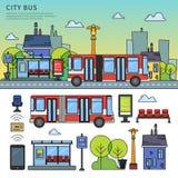 Bus della via nella città Immagine Stock Libera da Diritti
