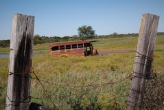 Bus, der nur parkt Stockfotografie