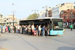 Bus des öffentlichen Transports in Istanbul Lizenzfreies Stockfoto
