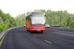 Bus destination sign London Stock Photo