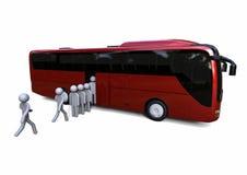 Bus di caricamento Fotografia Stock Libera da Diritti