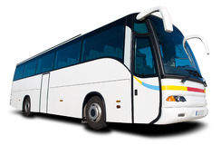 Bus di corsa Immagini Stock Libere da Diritti