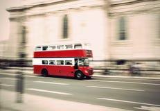 Bus di Londra dell'annata Fotografia Stock