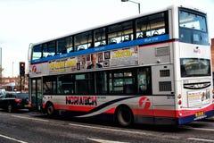Bus di Norwich Fotografia Stock Libera da Diritti