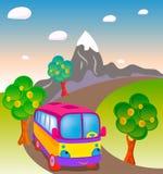 Bus di viaggio del giocattolo Fotografia Stock Libera da Diritti