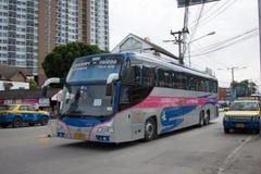Bus di Volvo della società di governo di trasporto Itinerario di bus dei 15 tester Immagine Stock