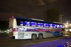 Bus di Volvo della società di governo di trasporto Itinerario di bus dei 15 tester Immagine Stock Libera da Diritti