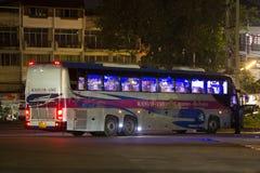 Bus di Volvo della società di governo di trasporto Itinerario di bus dei 15 tester Fotografia Stock Libera da Diritti