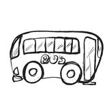 Bus doodle Royalty Free Stock Image