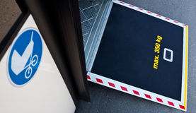 Bus door platform for stroller Royalty Free Stock Images