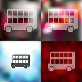 Bus double decker icon on blurred background Royalty Free Stock Photo