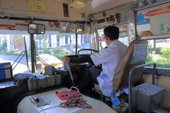 Bus driver Bangkok Thailand Royalty Free Stock Images