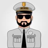 Bus Driver Cartoon Face. vector illustration