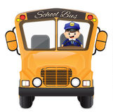 Bus driver driving his bus Stock Images