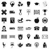 Bus driver icons set, simple style. Bus driver icons set. Simple style of 36 bus driver vector icons for web isolated on white background stock illustration
