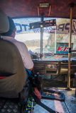 Bus and driver in Santa Marta, caribbean city Royalty Free Stock Images