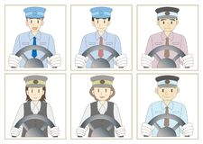 Bus driver set stock illustration