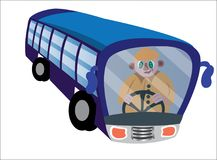 Bus Driver on wheels. A bus driver active on the wheels Stock Image
