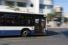 Bus driving in Tel Aviv Stock Image