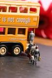 Bus e passeggeri fotografie stock libere da diritti