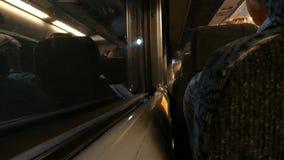 Bus in einem Tunnel stock footage