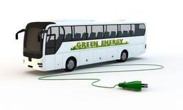 Bus elettrico verde Immagine Stock Libera da Diritti