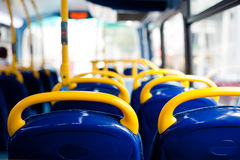 Bus empty seats. London's double decker bus empty seats Stock Image