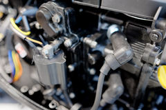 A bus engine Stock Photos