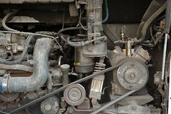 Bus Engine Problem Royalty Free Stock Photos