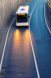 Bus entering passage royalty free stock images