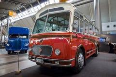 Bus F B W Franz Brozincevic Wetzikon-iii-u van pc35-u Alpenwagen, 1963 Royalty-vrije Stock Fotografie
