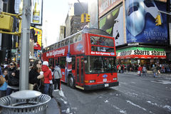 Bus facente un giro turistico di New York City Fotografia Stock