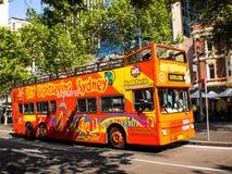 Bus facente un giro turistico di Sydney Fotografia Stock