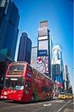 Bus facente un giro turistico - Times Square Fotografia Stock