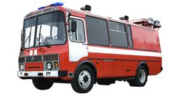 Bus fire protection Stock Photography