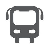 Bus flat icon vector illustration. Bus icon vector, flat design best vector icon Stock Photography