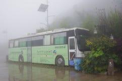 The bus in the fog Stock Photos