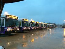 Bus Formation Royalty Free Stock Photography