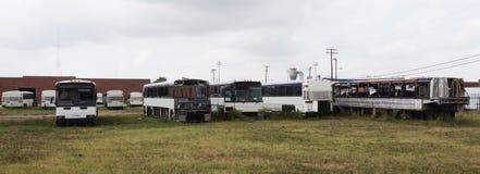 Bus-Friedhof lizenzfreie stockfotos