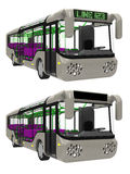 Bus front. Render of  a modern urban commuter bus Royalty Free Stock Images