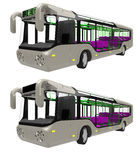 Bus front. Render of  a modern urban commuter bus Royalty Free Stock Photos
