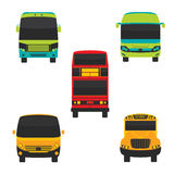Bus Front and Transportation Vector Royalty Free Stock Photos